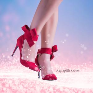 Akira24 Pointy Toe Lush Bow Velcro Ankle Cuff Stiletto Heel Dress Pumps