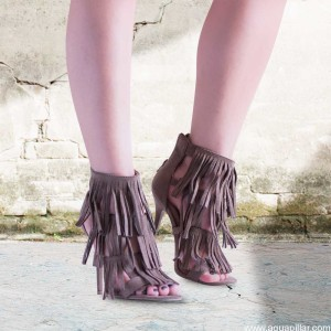 Fringe high heel