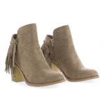 Buffy21 Fringe Western Stacked Heel Ankle Boots
