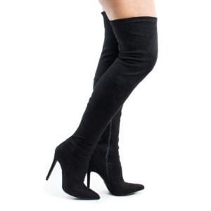 Gisele7 Over The Knee Pointy Toe Stiletto Heel Dress Boots