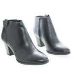 Zenith Pointy Toe Zip Up Block Heel Ankle Boots